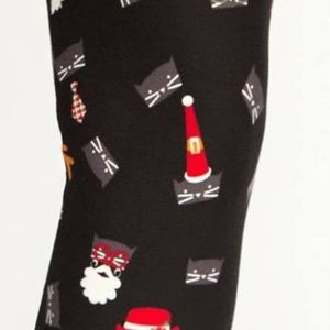 Agnes & Dora Santa Cat Leggings Size Large